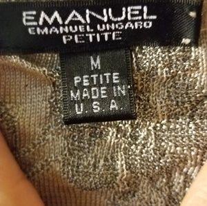 Emanuel Ungaro Tops - Emanuel Ungaro l metallic lace tank medium petite